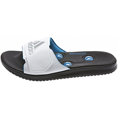 adidas - Hommes Recharge Massage Pro Slides Black / Running White / Solar Blue Q22067