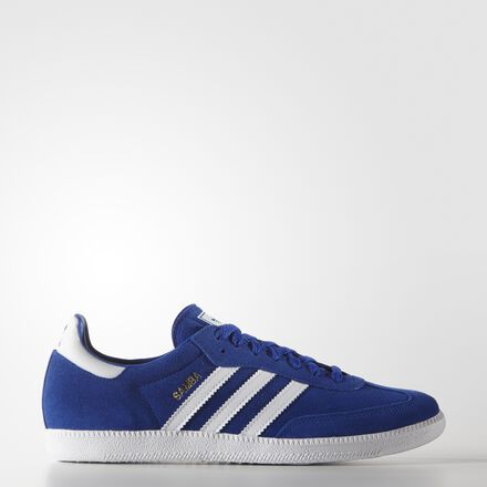 adidas - Hommes Samba Shoes BOBLUE/FTWWHT/GOLDMT B35215