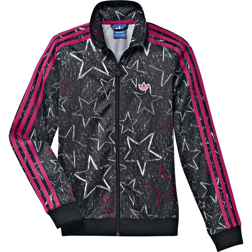 adidas - Kids Style Firebird Track Top Black / Blast Pink / White G69814