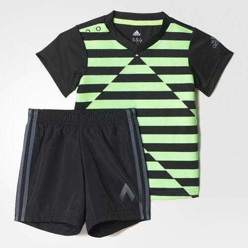 adidas - Bebes Mini Me Football Set Solar Green / Black AK2625