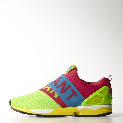 adidas - Men's ZX Flux Slip-On Shoes Solar Green / Solar Blue2  / Blaze Pink B34451