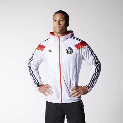 adidas - Men's Germany Anthem Track Jacket White / Poppy / Victory Red / Black D83721