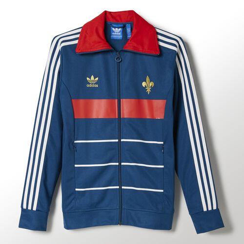 adidas - Men's France Track Jacket Tribe Blue / Poppy F77306