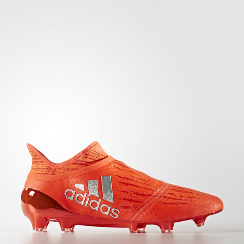 adidas - Hommes X 16+ PURECHAOS Firm Ground Boots Solar Red / Silver Met. / Hi-Res Red F13 S79512