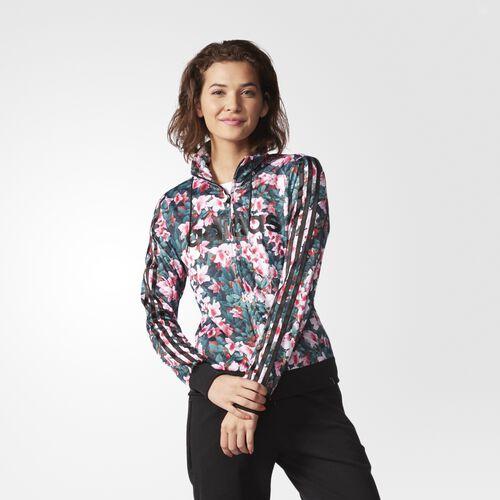 adidas - Women's Floral Printed Track Jacket Multicolor/Black AJ8560