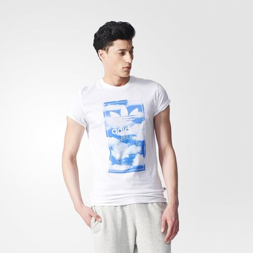 adidas - Hommes Cloud Tongue Label Tee White S19140