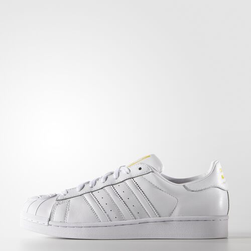 adidas - Hommes Pharrell Williams Supershell Superstar Shoes White / White / Yellow S83348