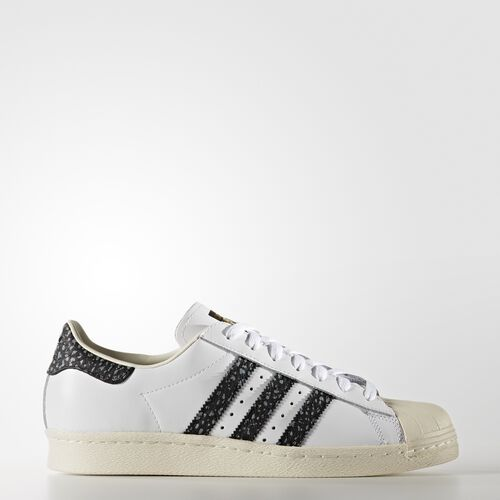 adidas - Men's Superstar 80s Shoes White/Vapour Green/Off White S75847