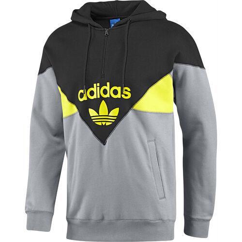 adidas - Hommes Colorado Half-Zip Hoodie Black / Tech Grey / Vivid Yellow G76184