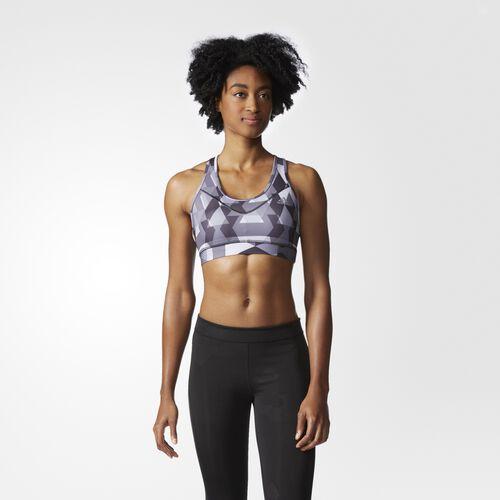 adidas - Women's Techfit Printed Bra Black/Print/Matte Silver AJ0539
