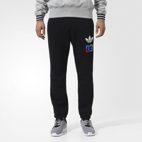 adidas - Men's Slim Labels Sweat Pants Black AB7694