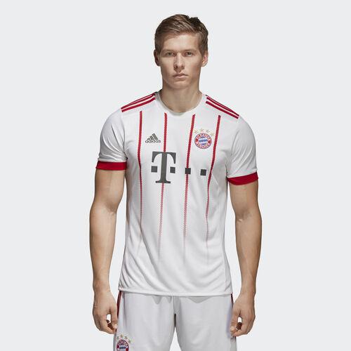 adidas - FC Bayern Munich UCL Replica Jersey White  /  Fcb True Red CD6588