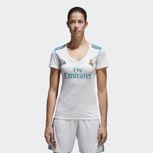 adidas - Jersey Real Madrid Local Replica Mujer WHITE/VIVID TEAL S13 B31110