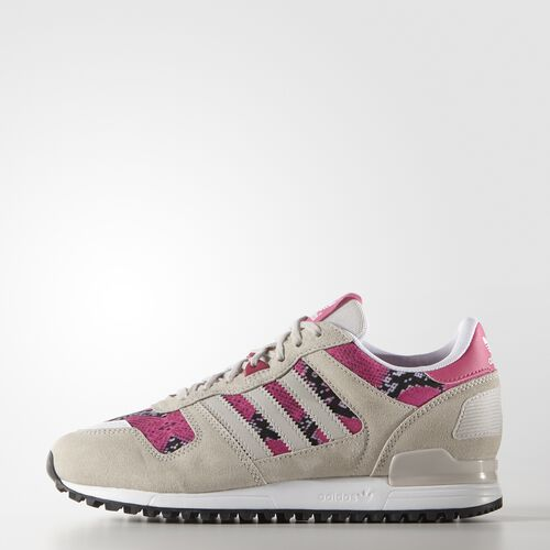 adidas - Women's ZX 700 Shoes Pearl Grey/Pearl Grey/Joy Pink B25714