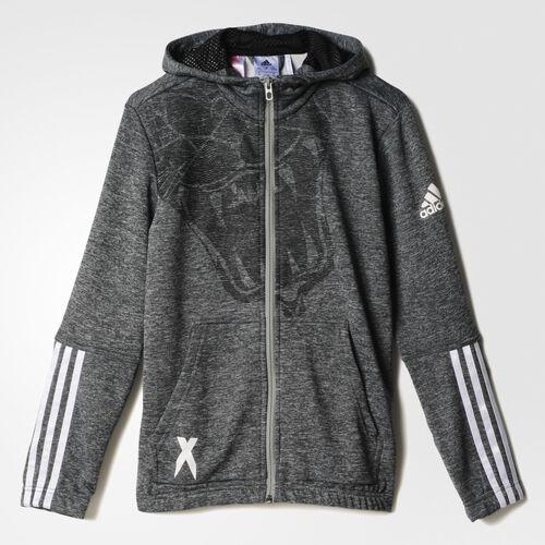 adidas - Enfants Locker Room Team X Hoodie Dark Grey Heather / Black / White AA8125