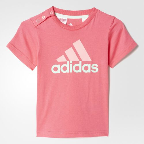 adidas - Bebes Separates Tee Super Pink / Frozen Green / Super Pop AB6419