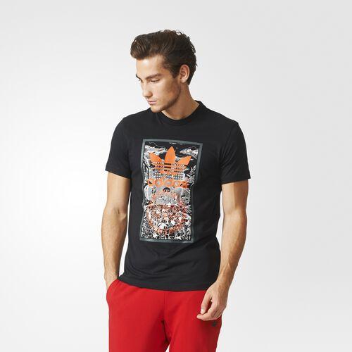 adidas - Men's Hand Drawn Basketball Tee BLACK AJ7140
