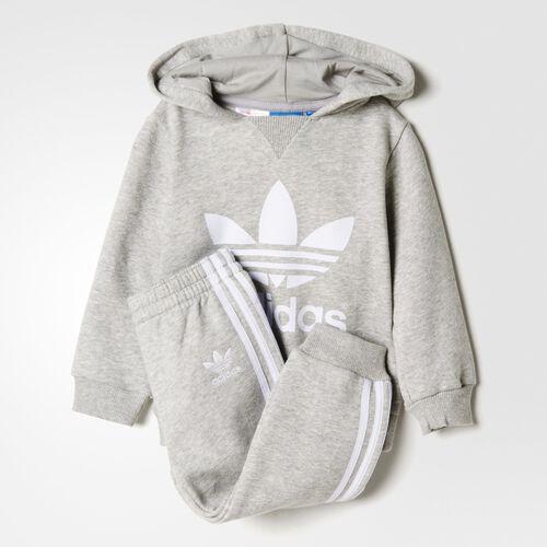 adidas - Bebes Trefoil Set Medium Grey Heather / White AB1857