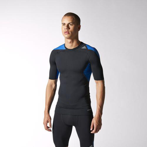 adidas - Men's Techfit Cool Tee Black / Blue Beauty / Black D81302