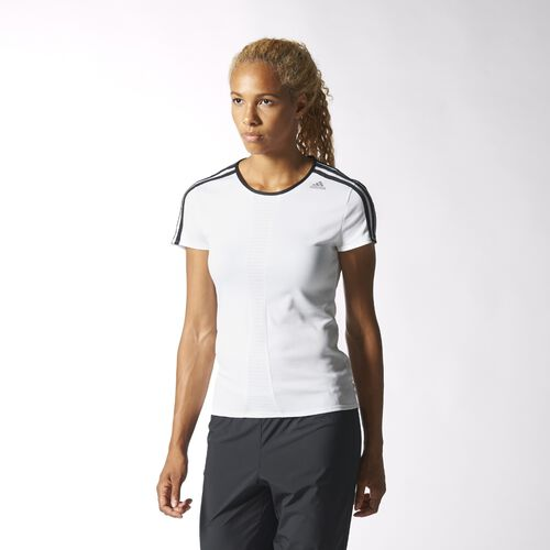 adidas - Women's Response Tee Core Black / Ftwr White / Flash Orange D85498