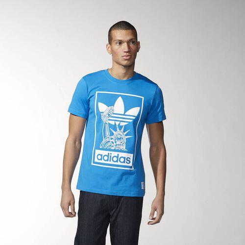 adidas - Men's Nigo New York City Superstar Tee Bright Blue S23613