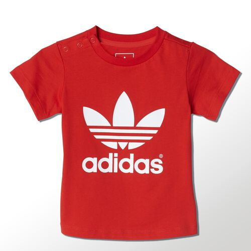 adidas - Bebes Trefoil Tee Red / White S14334