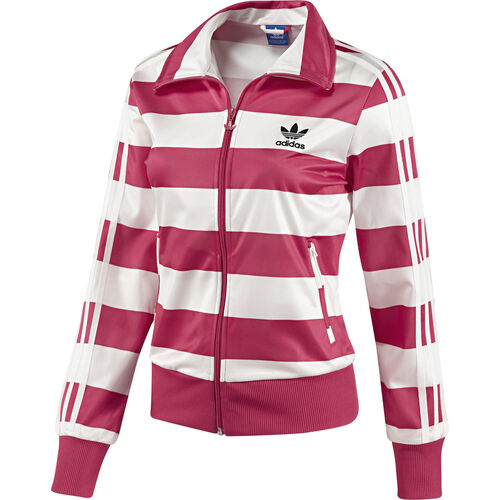 adidas - Women's Firebird Striped Track Top Blaze Pink / Running White G87402