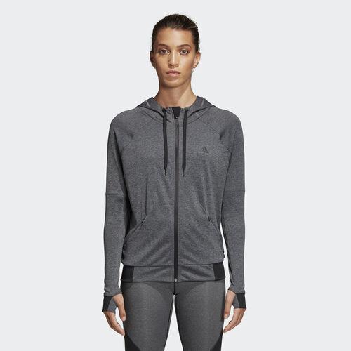 adidas - Chamarra con Gorro Performance Dark Grey Heather BK7678