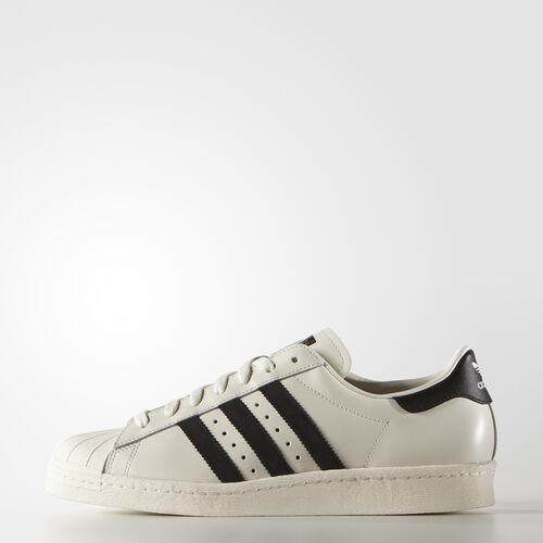 adidas - Men's Superstar 80s Vintage Deluxe Shoes Vintage White  / Core Black / Off White B25963
