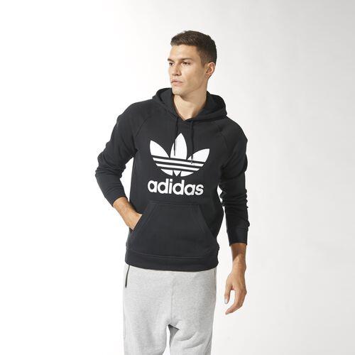 adidas - Men's Raglan Trefoil Hoodie Black M30154