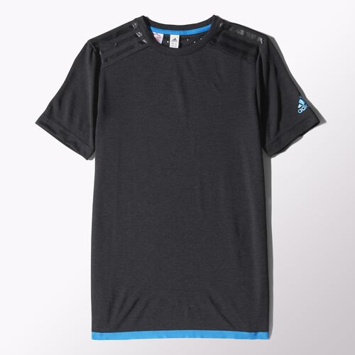 adidas - Youth Uncontrol Climachill Tee Chill Black Mel / Chill Blue S86815