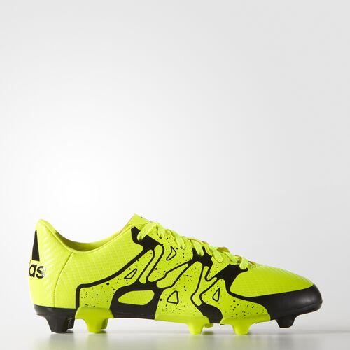 adidas - Kids X 15.3 Firm/Artificial Ground Cleats Solar Yellow/Solar Yellow/Core Black B26997