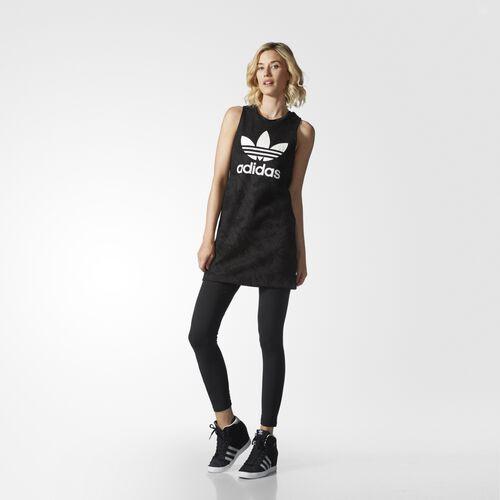 adidas - Women's Trefoil Tank Dress Black AY6600