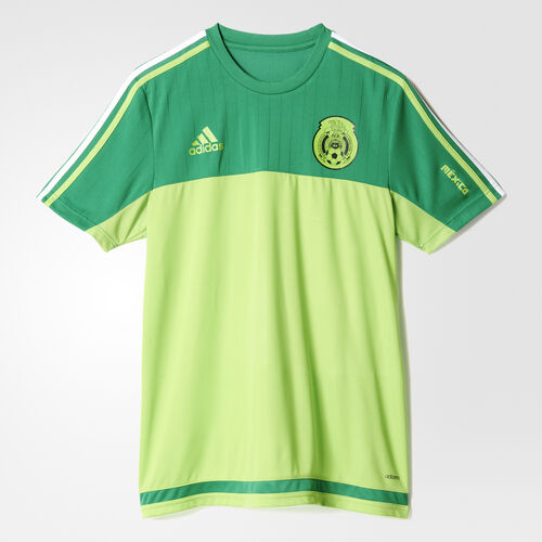 adidas - Mexico Authentic Training Jersey Green  /  Semi Solar Green S13128