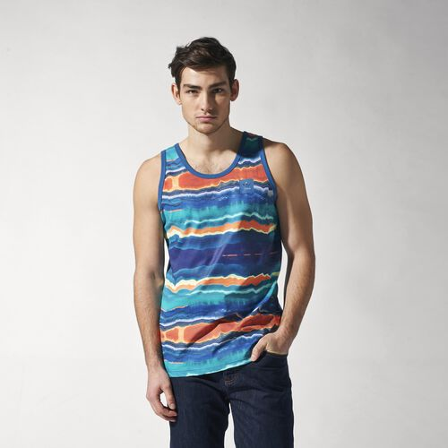 adidas - Hommes Glazed Tank Top Ash Blue / Print S23492