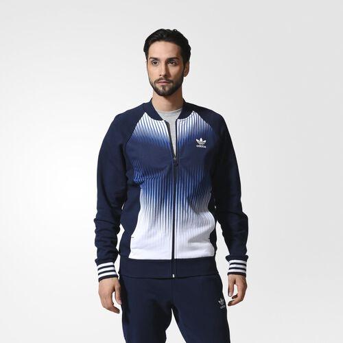 adidas - Hommes Mezcla Superstar Track Top Collegiate Navy / White AO2833