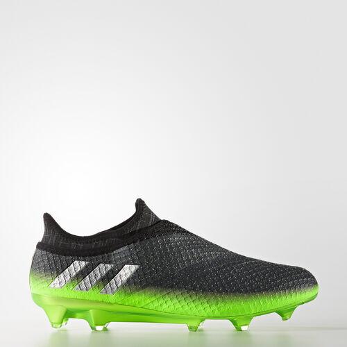 adidas - Men's Messi 16+ PUREAGILITY Firm Ground Boots Dark Grey/Silver Met./Solar Green S76489