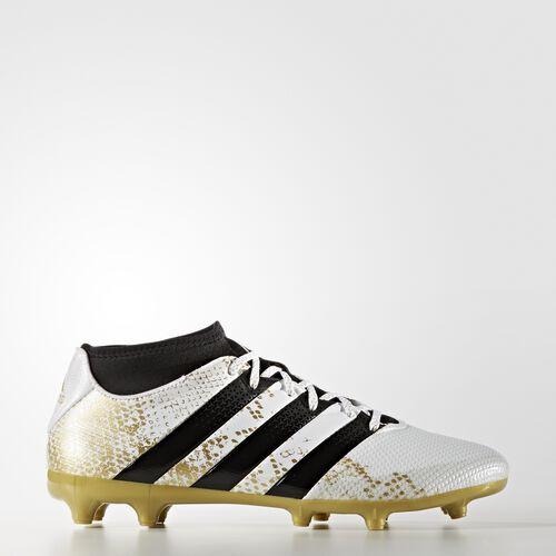 adidas - Enfants ACE 16.3 Primemesh Firm Ground Boots White/Core Black/Gold Met. AQ3447
