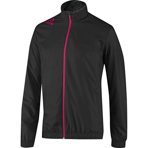 adidas - Men's Predator Woven Jacket Black / Vivid Berry / Pure Cyan D85406