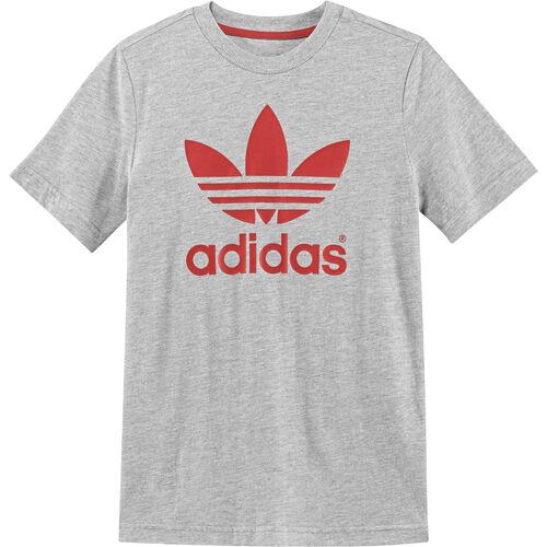 adidas - Kids Trefoil Tee Medium Grey Heather / Hi-Res Orange G69907