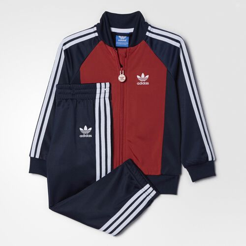 adidas - Infants Superstar Track Suit Collegiate Navy / Raw Red  / White AB1838