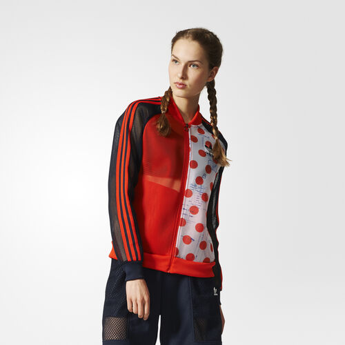 adidas - OSAKA TRACK TOP     BORANG/LEGINK BOLD ORANGE/LEGEND INK F17 BQ5750