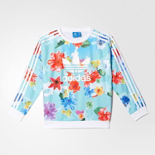 adidas - BUZO ORIGINALS FLOWER NIÑA Multicolor/White BK2041