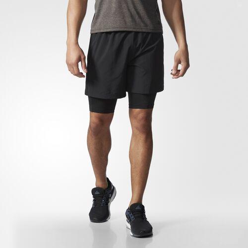 adidas - Men's Team Issue Double Shorts Black / Black AO1421
