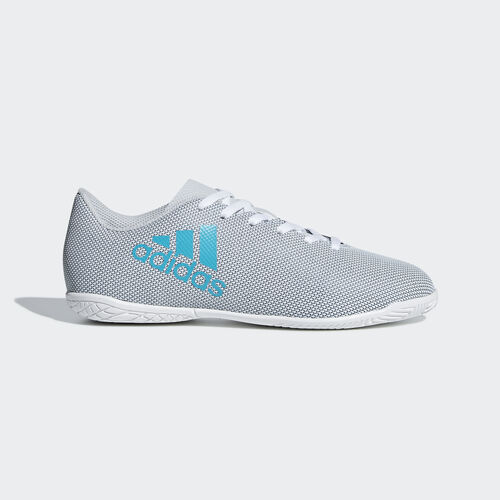 adidas - Calzado de Fútbol X 17.4 Bajo Techo FTWR WHITE/ENERGY BLUE S17/CLEAR GREY S12 S82408