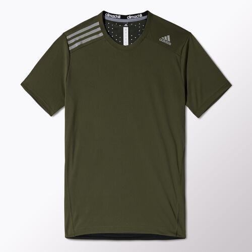 adidas - Men's Climachill Tee Earth Green / Black F82528