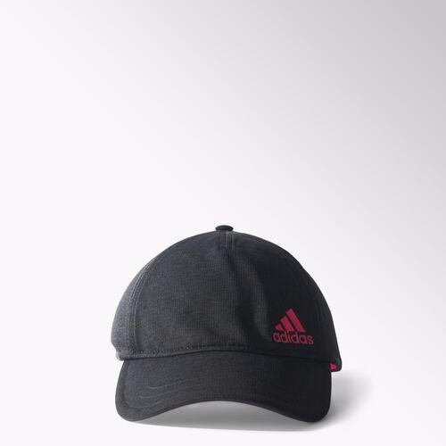 adidas - Climachill Run Hat Chill Black Mel/Flash Red S15/Black S26975