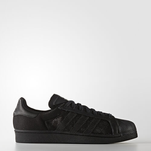 adidas - Men's Superstar Triple Shoes  Core Black/Core Black/Core Black BB3694