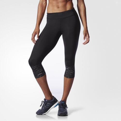 adidas - Women's Supernova Three-Quarter Reflective Tights Black AA2341