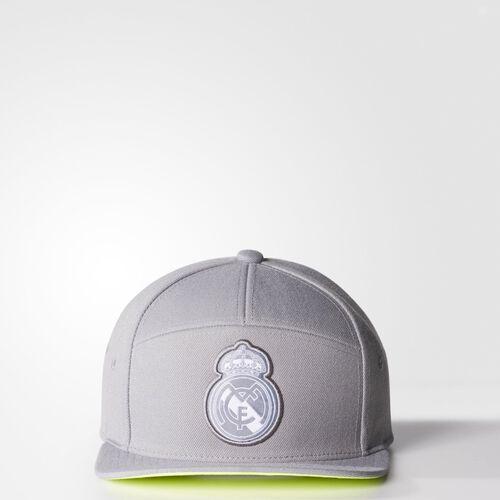 adidas - Real Madrid Anthem Hat Grey / Solar Yellow / White AA1049